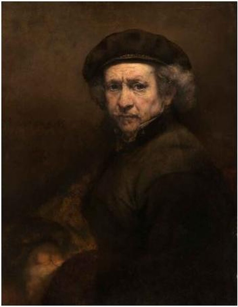 Diamond Painting 30 x 20 cm -Rembrandt - zshrb18 - vierkante steentjes pakket volledig - volwassenen - hobby creatief