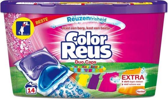 Witte Reus Duo-Caps Wasmiddel Color Reus 14 stuks