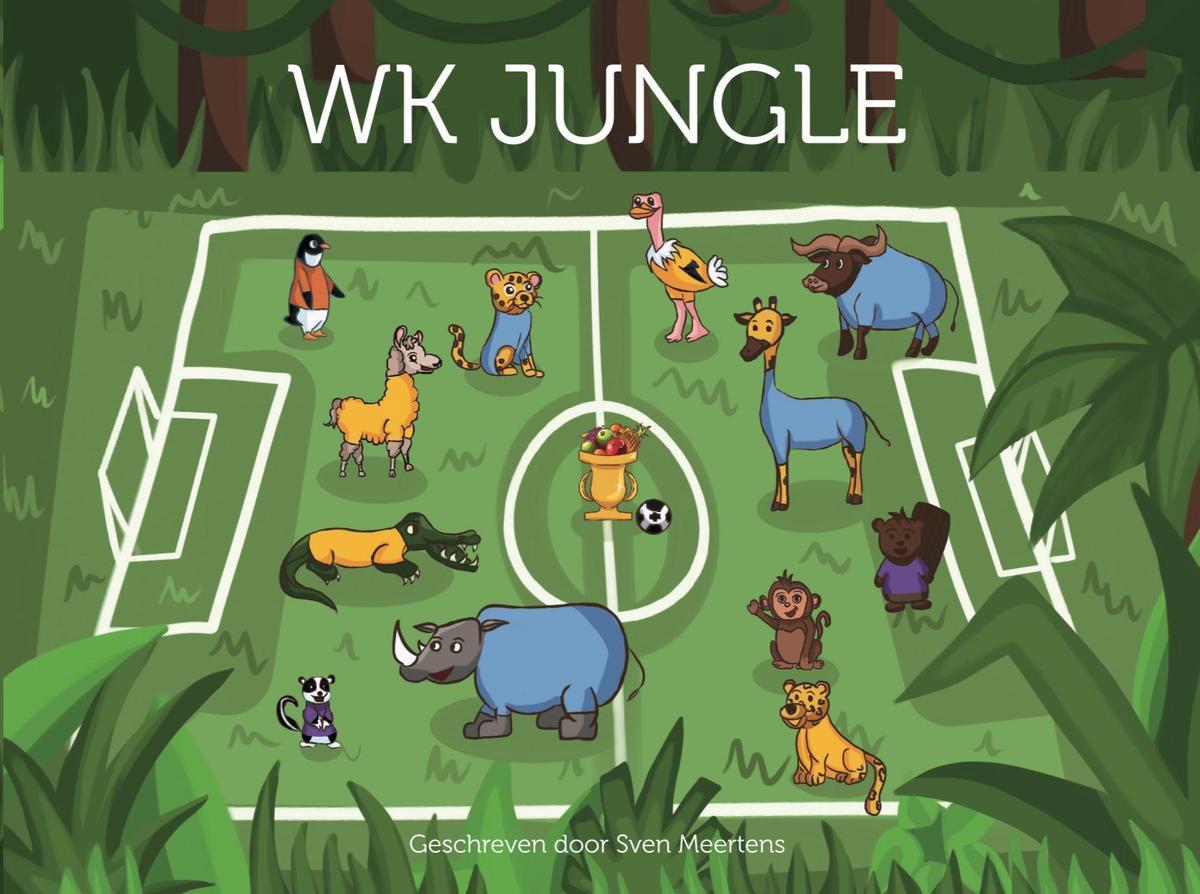 WK Jungle Kinderboek | Spannend voetbalboek voor kinderen van 2 t/m 8 jaar | Voetbal prentenboek kinderen | Voorleesboekje of zelfleesboek over een spannend voetbaltoernooi met leuke dieren en grappige momenten