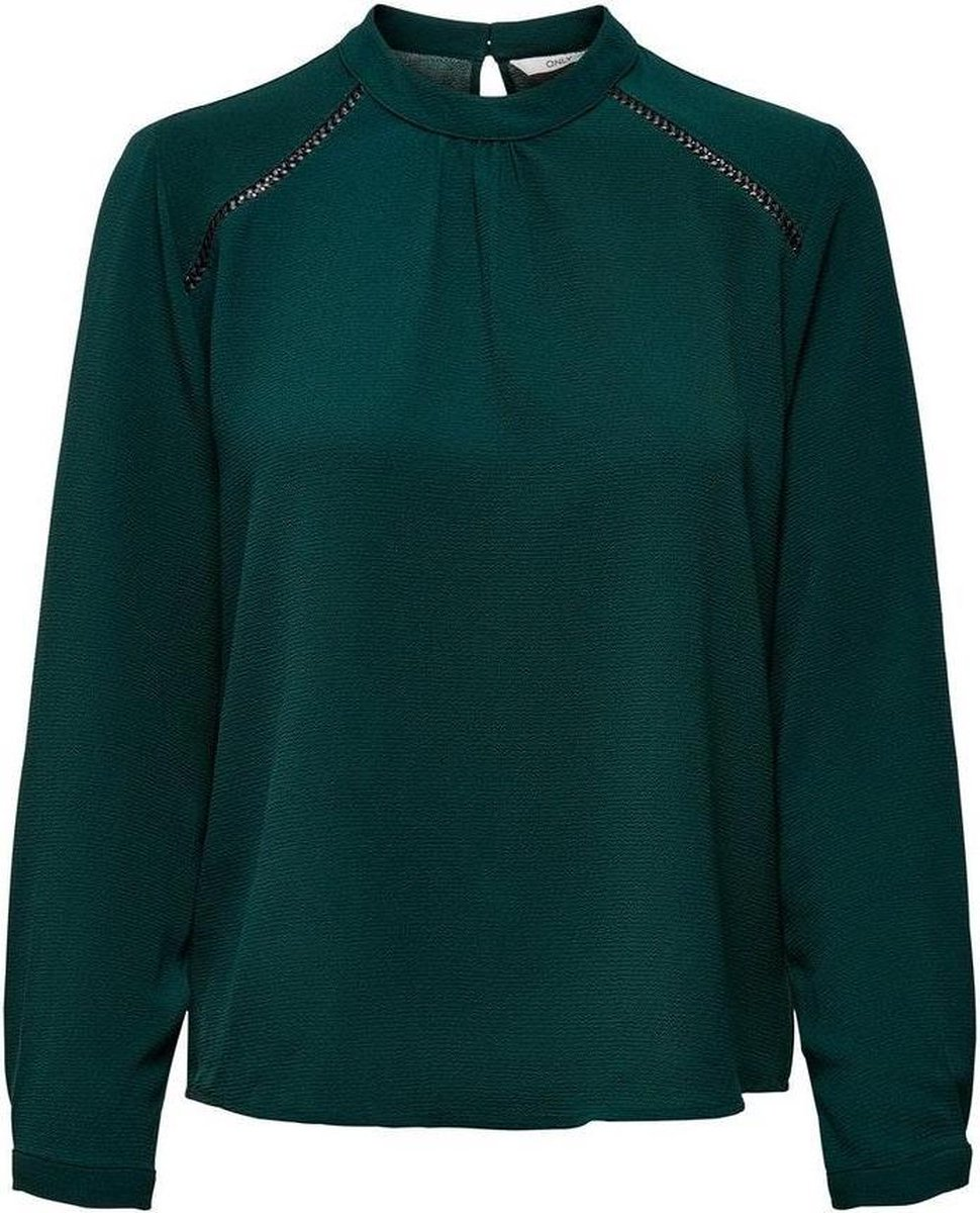 Onlnew Mallory L/s Blouse Solid Wvn 15170784 Green Gables