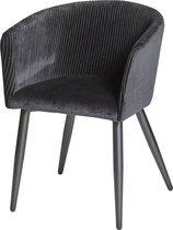 Furn4all® - Claire - Eetkamerstoel - Kuipstoel - Velvet eetkamerstoel - Stoel - Stof - Zwart