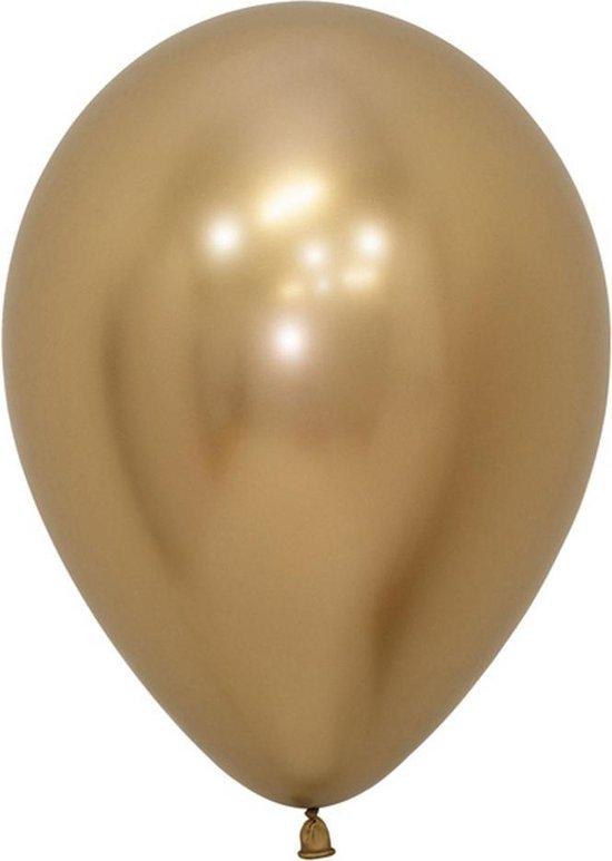 Sempertex Reflex Latex Balloons (Pack of 50) (Gold)