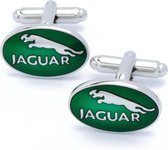 Manchetknopen - Automerk Jaguar Groen