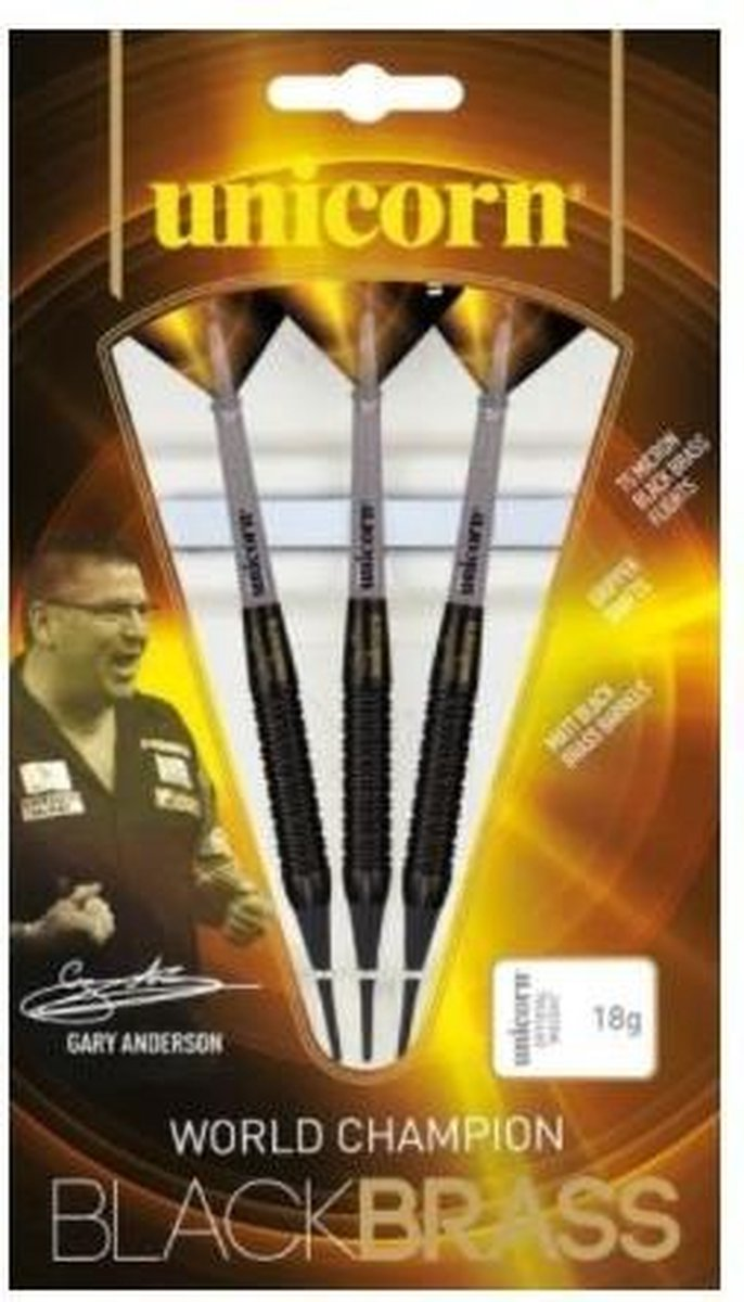 Unicorn Gary Anderson Black Brass P2 Soft Tip - 17 Gram