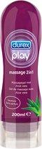 Durex Massage Olie en Glijmiddel - Aloë Vera - Waterbasis - 200 ml