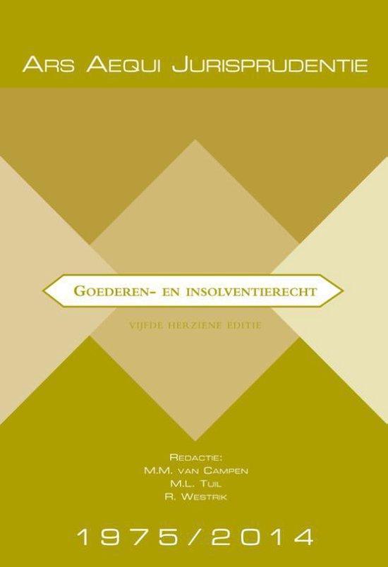 Boek cover Ars Aequi Jurisprudentie  -   Jurisprudentie Goederen- & insolventierecht 1975-2014 van