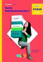 Boek cover BV in balans  - Kennis bedrijfsadministratie 1 niveau 4 Theorieboek van Gerard van Heeswijk