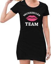 Vrijgezellenfeest team jurkje zwart voor dames S (38)