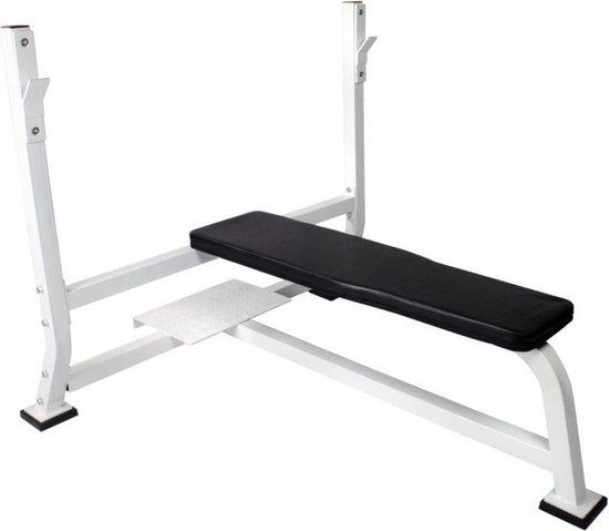 Gorilla Sports Brede Halterbank zwart belastbaar tot 250 kg (Staal)