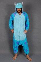 KIMU onesie Sulley Monsters blauwe draak - drakenpak