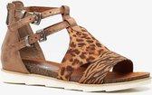 Blue Box dames sandalen met luipaardprint - Bruin - Maat 41