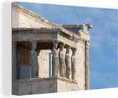 De tempel van Athena Nike op de Akropolis van Athene canvas 140x90 cm - Foto print op Canvas schilderij (Wanddecoratie woonkamer / slaapkamer)