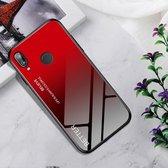 Schokbestendig gehard glas + TPU Case voor Huawei P20 Lite (zwart rood)