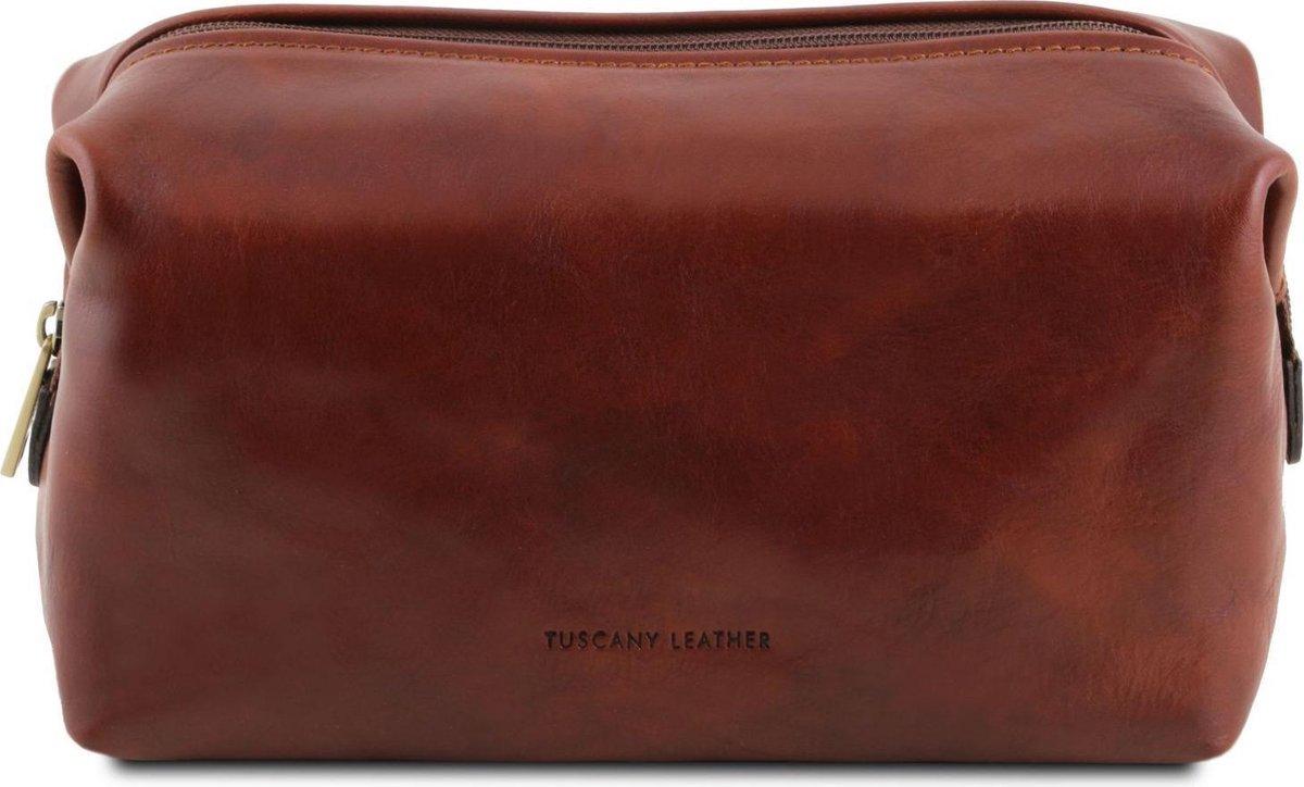 Tuscany Leather - Smarty - Leren toilettas - Large - Bruin - TL141219