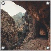 Tuinposter –Rotsen – 80x80 Foto op Tuinposter (wanddecoratie voor buiten en binnen)