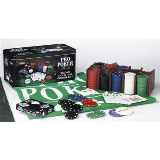 Pro Poker Texas Hold em set - Kaartspel
