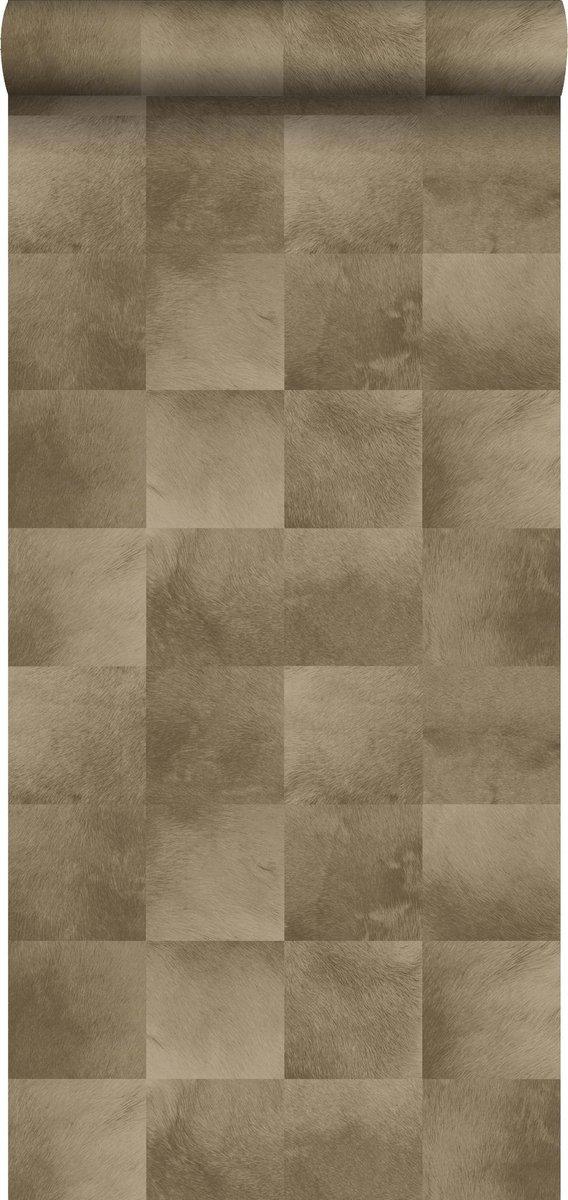 ESTAhome behangpapier dierenhuid donker beige - 139182