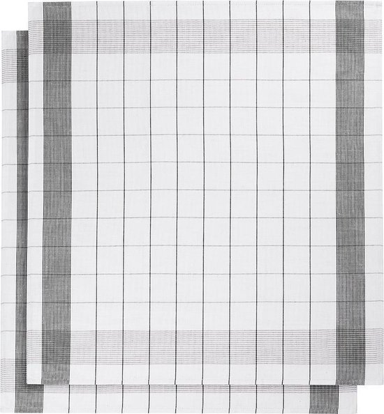 De Witte Lietaer - Mixte - Thee- en keukendoek - 2/68x68 - Black