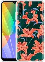 Huawei Y6p Hoesje Flowers