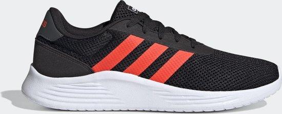 adidas Lite Racer 2.0 Heren Sneakers - Core Black/Solar Red/Grey Six - Maat  44