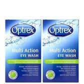 Optrex Multi Action Eye Wash - Geïrriteerde Ogen - Oogdouche - 2 x 100 ml