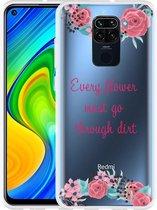 Xiaomi Redmi Note 9 Hoesje Every Flower