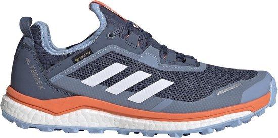 Adidas Terrex Agravic Flow GTX - dames waterdichte lage wandelschoenen -  Blauw