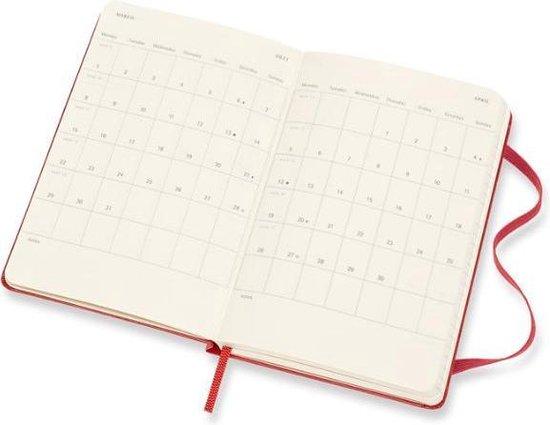 Moleskine 18 Maanden Agenda - 2020/21 - Wekelijks Horizontaal - Pocket (9x14 cm) - Scarlet Red - Harde Kaft