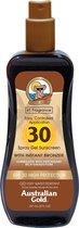 Australian Gold SPF 30 Spray Gel Zonnebrand met Bronzer - 237 ml