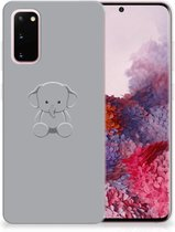 Samsung Galaxy S20 Telefoonhoesje met Naam Grijs Baby Olifant