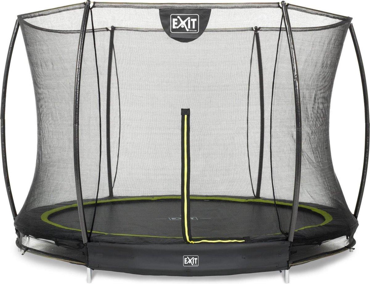 Trampoline EXIT Silhouette inground - ø244cm+net - zwart