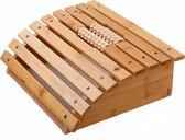 Voetmassage Roller bank bamboe hout - Ontspannende Voet massage door de voetmassageroller - Reflexologie - Voetroller voor voetmassage - Voor op de grond of onder bureau - Decopatent®