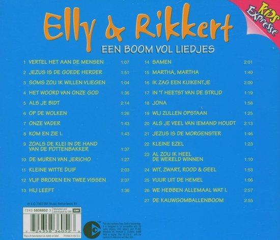 Een Boom Vol Liedjes 1 - Elly & Rikkert