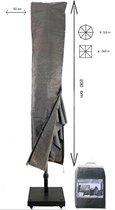 Basic ZweefParasolhoes met Stok en Rits 230 cm.Bes