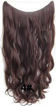 Wire hairextensions wavy bruin - 4#