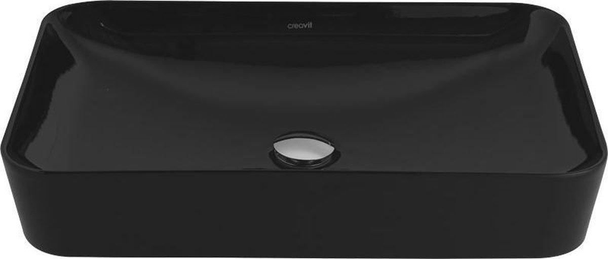 Creavit Ultra UL060 45x60 Waskom Zwart