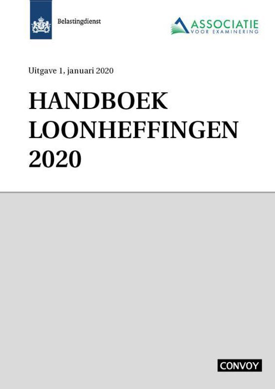 Handboek Loonheffingen 2020 - none | Fthsonline.com