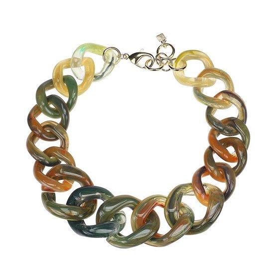 CAMPS & CAMPS - collier - rainbow olijfgroen