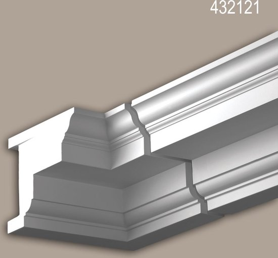 Binnenhoek Profhome 432121 Exterieur lijstwerk Hoeken voor Wandlijsten Gevelelement neo-classicisme stijl wit
