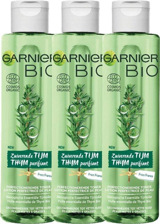 Garnier Bio Reinigingstonic - 3 x 150 ml - Gemengde tot vette huid - Zuiverende Thijm