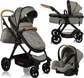 Baninni Kinderwagen - Ayo Jazz - Incl Autostoel en tas - Grijs/Bruin - Limited Edition