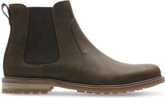 Clarks - Herenschoenen - Foxwell Top - G - beeswax leather - maat 8,5
