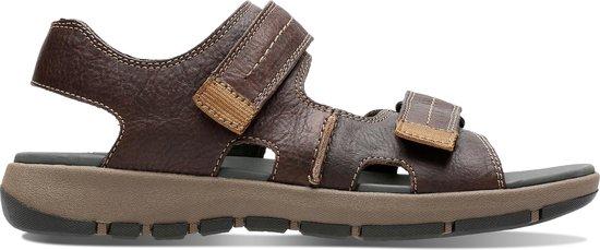 Clarks - Herenschoenen - Brixby Shore - G - dark brown leather - maat 6,5