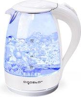 Aigostar Eve 30GON - Glazen Waterkoker met Led verlichting - Wit