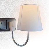 Stopcontactlamp Hanglamp - Wit - E14