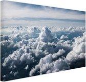 In de wolken Canvas 30x20 cm - klein - Foto print op Canvas schilderij (Wanddecoratie woonkamer / slaapkamer)