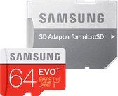 Samsung Evo + 64 GB micro SD class 10 met adapter