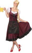 Bordeaux Beierse kostuum voor vrouwen  - Verkleedkleding - Large