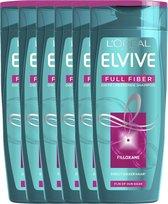 L'Oréal Paris Elvive Full Fiber Shampoo - 6x250 ml - Voordeelverpakking