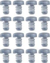 Set van 150 pvc dopjes, buffers, deurdempers (type 2, transparant, 5 mm)